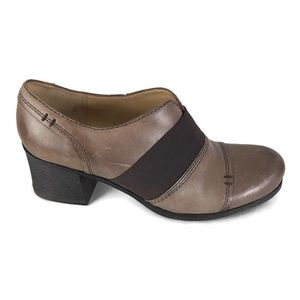 Naturalizer Rusher Ankle Bootie Brown Leather  9M
